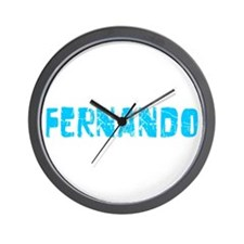 Fernando Faded (Blue) Wall Clock