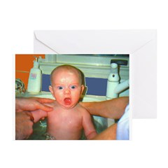 Shocked Baby n Sync Greeting Cards (Pk of 10)