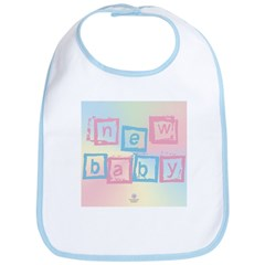 New Baby blocks Bib