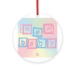 New Baby blocks Keepsake (Round)