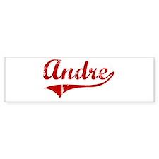 Andre (red vintage) Bumper Bumper Sticker