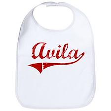 Avila (red vintage) Bib