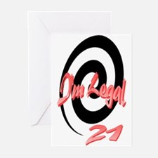 I'm Legal 21 Greeting Cards (Pk of 10)