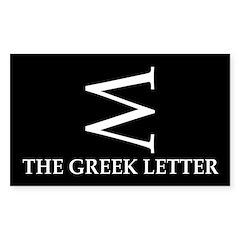 W: The Greek Letter (bumper sticker)