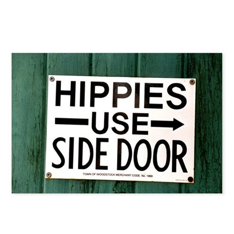 Hippies - Side Door Postcards (Package of 8)