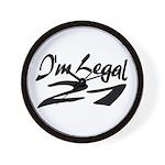 I'm Legal 21 Wall Clock