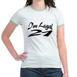 I'm Legal 21 Jr. Ringer T-Shirt
