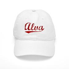 Alva (red vintage) Baseball Cap