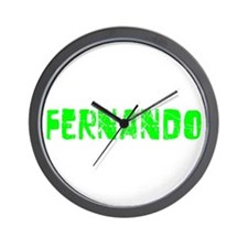 Fernando Faded (Green) Wall Clock