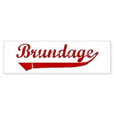 Brundage (red vintage) Bumper Bumper Sticker