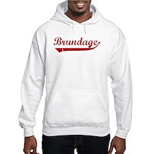 Brundage (red vintage) Hoodie