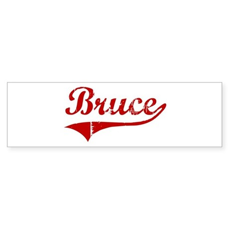 Bruce (red vintage) Bumper Sticker