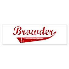 Browder (red vintage) Bumper Bumper Sticker