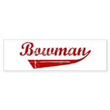 Bowman (red vintage) Bumper Bumper Sticker