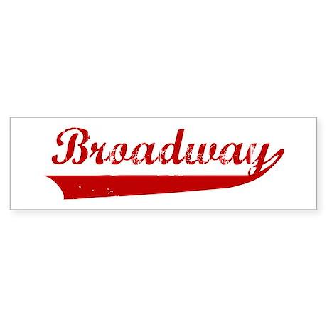 Broadway (red vintage) Bumper Sticker
