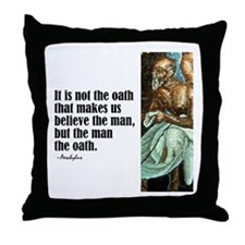 "Aeschylus ""The Oath"" Throw Pillow"