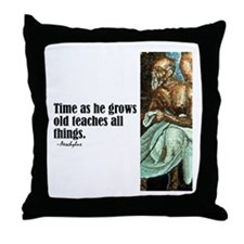 "Aeschylus ""Time"" Throw Pillow"