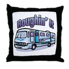 Roughin' it Throw Pillow