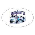 Roughin' it Oval Sticker