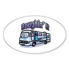 Roughin' it Oval Decal