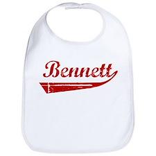 Bennett (red vintage) Bib