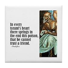 """Aeschylus """"Tyrant's Heart"""" Tile Coaster"""