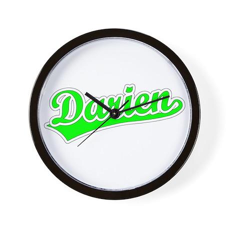 Retro Darien (Green) Wall Clock
