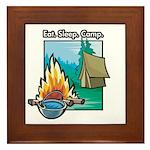 Eat. Sleep. Camp Framed Tile