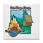 Eat. Sleep. Camp Tile Coaster