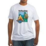 Eat. Sleep. Camp Fitted T-Shirt