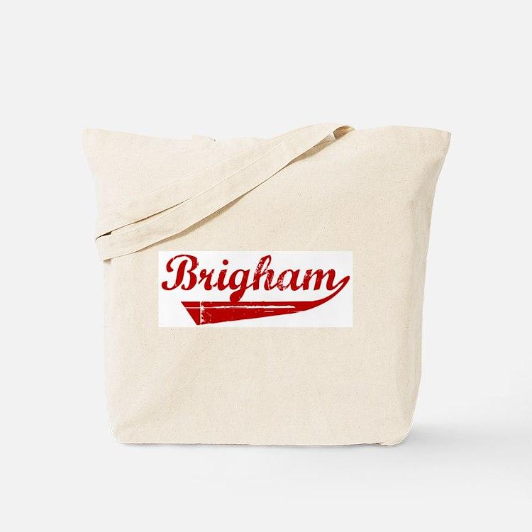 Brigham (red vintage) Tote Bag