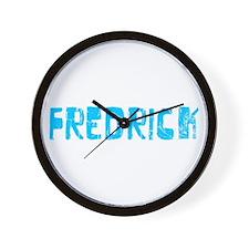 Fredrick Faded (Blue) Wall Clock
