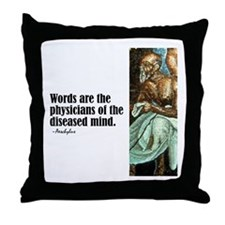 "Aeschylus ""Words"" Throw Pillow"