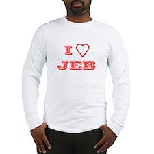 I LOVE JEB BUSH Long Sleeve T-Shirt