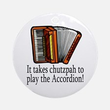 Accordion Player Ornament