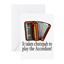 Accordion Player Greeting Cards