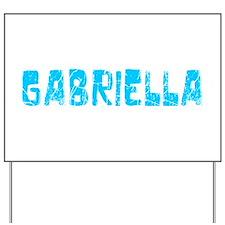 Gabriella Faded (Blue) Yard Sign