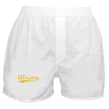 Vintage Alayna (Orange) Boxer Shorts