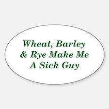 Wheat, Barley & Rye Celiac Oval Decal