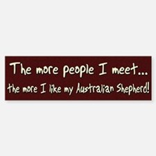 The More People Australian Shepherd Bumper Car Car Sticker