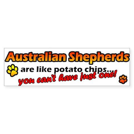 Potato Chips Australian Shepherd Bumper Sticker