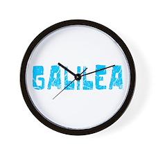Galilea Faded (Blue) Wall Clock
