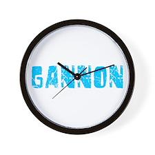 Gannon Faded (Blue) Wall Clock