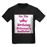 1st Birthday Princess's Godfa Kids Dark T-Shirt