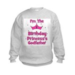 1st Birthday Princess's Godfa Kids Sweatshirt