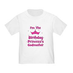1st Birthday Princess's Godmo Toddler T-Shi