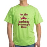 1st Birthday Princess's Uncle Green T-Shirt