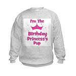 1st Birthday Princess's Pup! Kids Sweatshirt