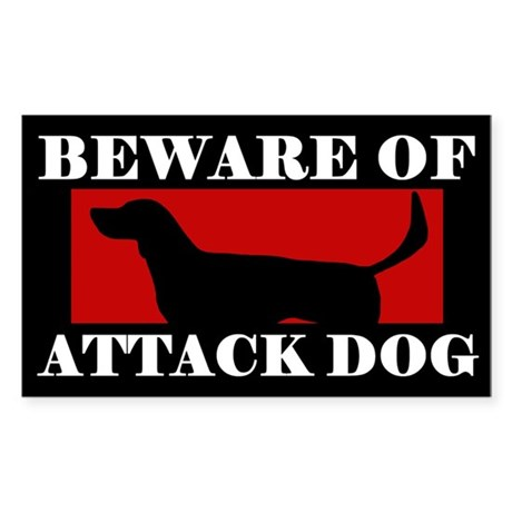 Beware of Attack Dog American Foxhound Sticker