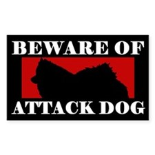Beware of Attack Dog American Eskimo Dog Decal